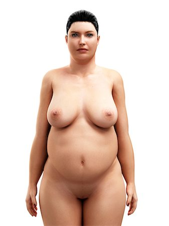 Obese woman, artwork Stock Photo - Premium Royalty-Free, Code: 679-05798883