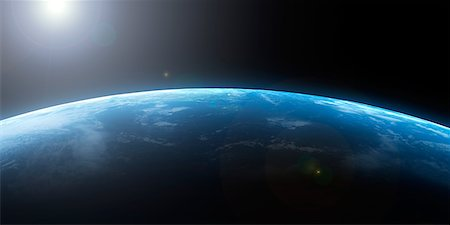 space - Earth from space, artwork Stock Photo - Premium Royalty-Free, Code: 679-05798953