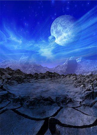 Alien planet, computer artwork. Stock Photo - Premium Royalty-Free, Code: 679-05996233