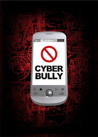 Cyber bullying, conceptual computer artwork. Stock Photo - Premium Royalty-Free, Code: 679-05996298