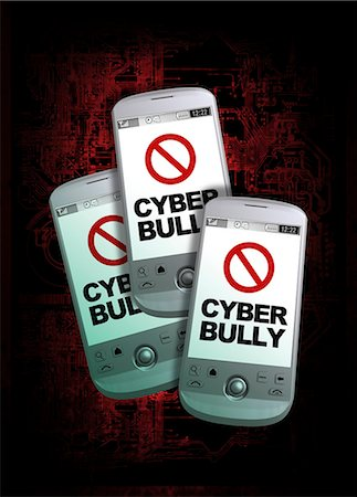 Cyber bullying, conceptual computer artwork. Stock Photo - Premium Royalty-Free, Code: 679-05996299