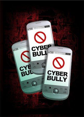 Cyber bullying, conceptual computer artwork. Stock Photo - Premium Royalty-Free, Code: 679-05996299