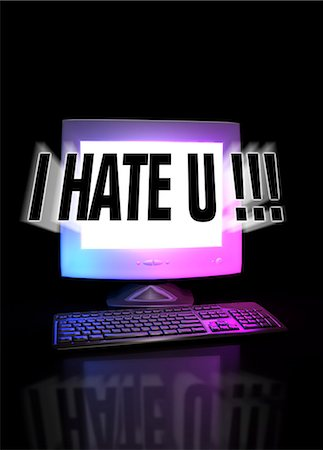 Cyber bullying, conceptual computer artwork. Stock Photo - Premium Royalty-Free, Code: 679-05996292