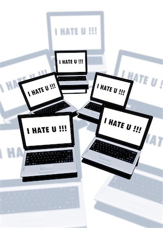 Cyber bullying, conceptual computer artwork. Stock Photo - Premium Royalty-Free, Code: 679-05996302