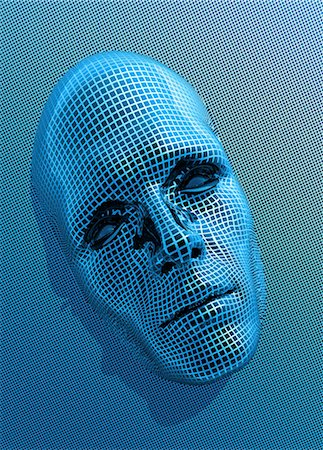 Artificial intelligence, conceptual computer artwork. Stock Photo - Premium Royalty-Free, Code: 679-05996325