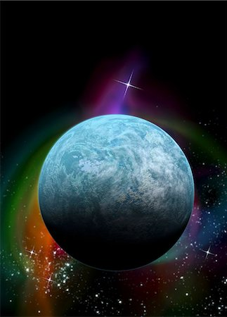 Kepler-20f exoplanet, computer artwork. This Earth-sized planet is found in the constellation Lyra. Stock Photo - Premium Royalty-Free, Code: 679-05996359