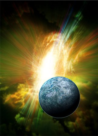 Kepler-20f exoplanet, computer artwork. This Earth-sized planet is found in the constellation Lyra. Stock Photo - Premium Royalty-Free, Code: 679-05996365