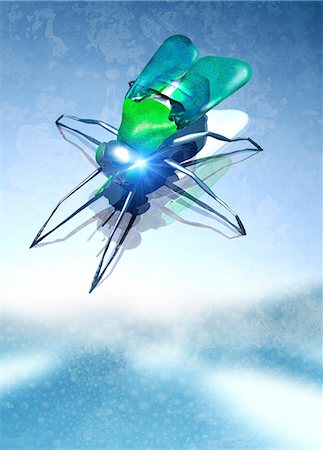 Nanodrone, computer artwork. Stock Photo - Premium Royalty-Free, Code: 679-05996426