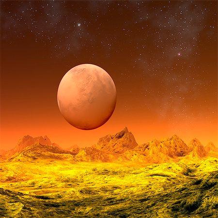 Alien planet, computer artwork. Stock Photo - Premium Royalty-Free, Code: 679-06198360