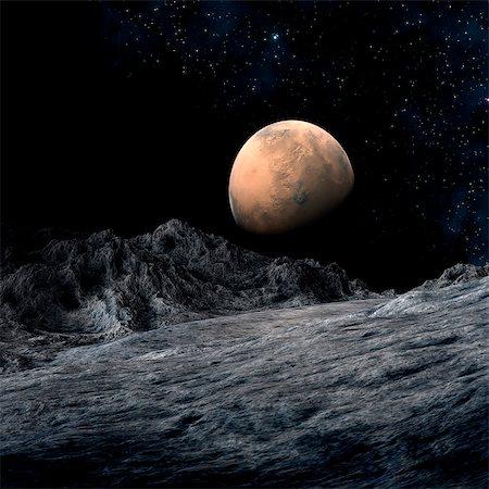 space - Alien planet, computer artwork. Stock Photo - Premium Royalty-Free, Code: 679-06198361