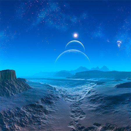Alien planet, computer artwork. Stock Photo - Premium Royalty-Free, Code: 679-06198376