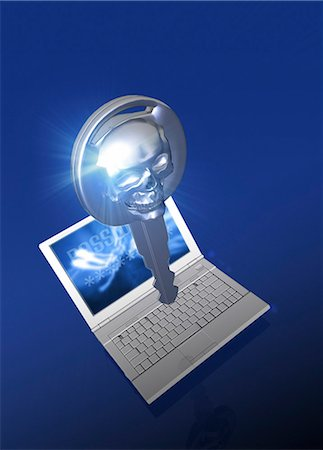 Computer hacking, conceptual computer artwork. Stock Photo - Premium Royalty-Free, Code: 679-06198423