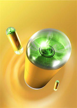 scope - Capsule endoscope, computer artwork. Stock Photo - Premium Royalty-Free, Code: 679-06198445
