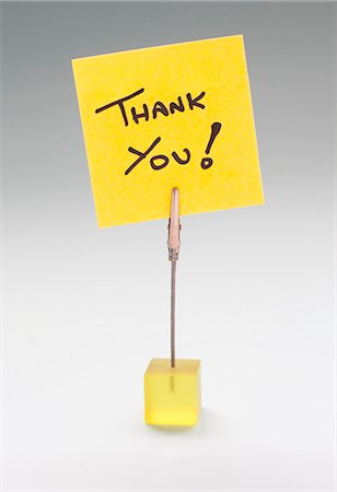 Thank you note. Stock Photo - Premium Royalty-Free, Code: 679-06198638
