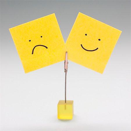 self adhesive note - Moods, conceptual image. Stock Photo - Premium Royalty-Free, Code: 679-06198640