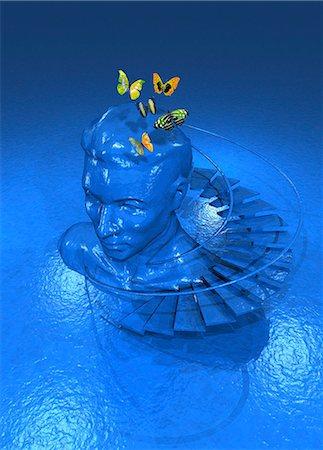Consciousness, conceptual computer artwork. Stock Photo - Premium Royalty-Free, Code: 679-06198658