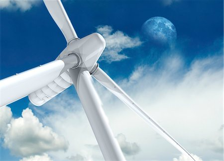 power - Wind turbine, computer artwork. Stock Photo - Premium Royalty-Free, Code: 679-06198664
