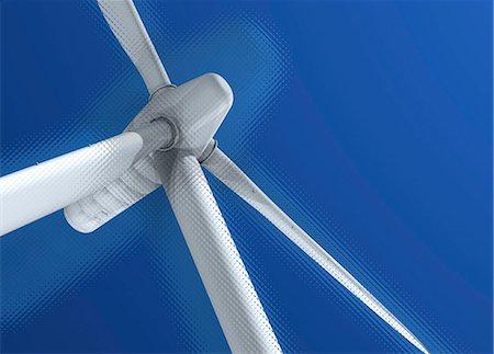 Wind turbine, computer artwork. Stock Photo - Premium Royalty-Free, Code: 679-06198663