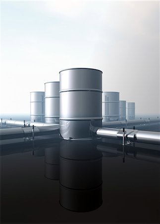 pipework - Oil distribution, conceptual computer artwork. Stock Photo - Premium Royalty-Free, Code: 679-06198687