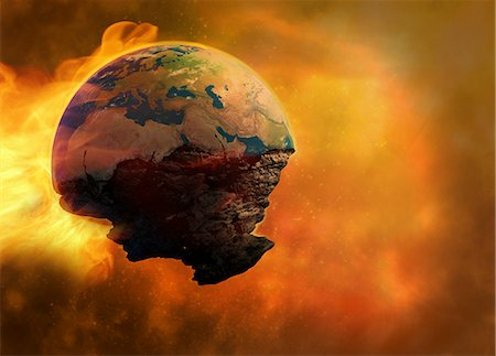flame - End of the world, computer artwork. Stock Photo - Premium Royalty-Free, Code: 679-06198701