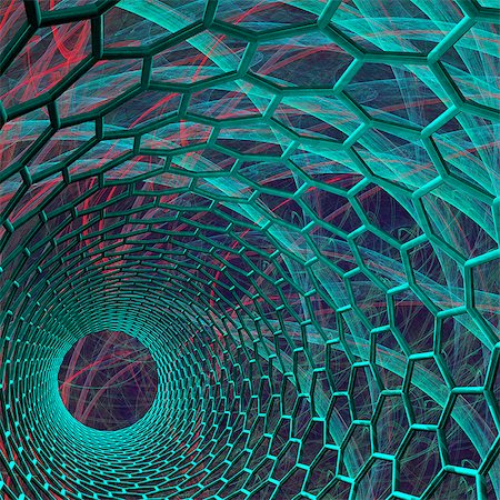 estructura - Carbon nanotube. Computer artwork of the inside of a nanotube, or buckytube. Foto de stock - Sin royalties Premium, Código: 679-06198990