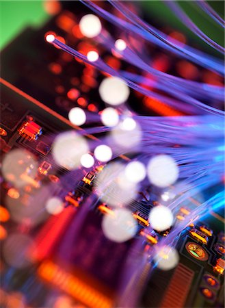 fibre optic - Digital communication, conceptual image. Stock Photo - Premium Royalty-Free, Code: 679-06199089