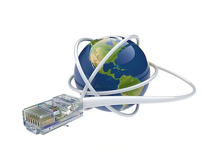 World wide web. Conceptual computer artwork showing a network cable around the earth. Stock Photo - Premium Royalty-Free, Code: 679-06199198