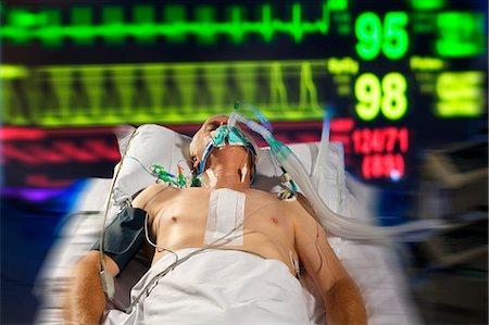 Intensive care patient. Stock Photo - Premium Royalty-Free, Code: 679-06674174