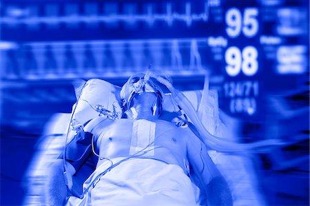 Intensive care patient. Stock Photo - Premium Royalty-Free, Code: 679-06674173
