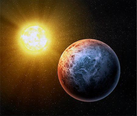space - Alien planet, computer artwork. Stock Photo - Premium Royalty-Free, Code: 679-06672863
