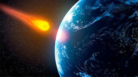 Near-Earth asteroid, computer artwork. Stock Photo - Premium Royalty-Free, Code: 679-06672895