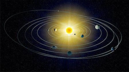 Solar system, computer artwork. Stock Photo - Premium Royalty-Free, Code: 679-06672904
