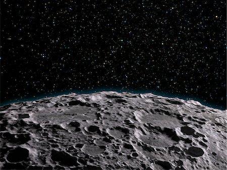 Moon's surface, computer artwork. Stock Photo - Premium Royalty-Free, Code: 679-06672921