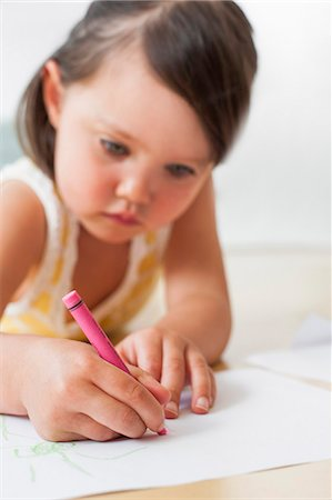 Toddler drawing. Stock Photo - Premium Royalty-Free, Code: 679-06673189