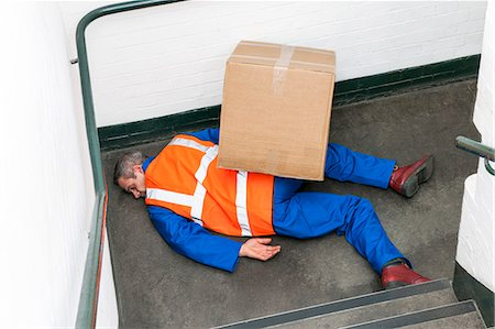 people falling - Work place accident. Stock Photo - Premium Royalty-Free, Code: 679-06673774