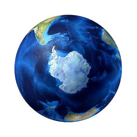 Antarctic, computer artwork. Stock Photo - Premium Royalty-Free, Code: 679-06673945