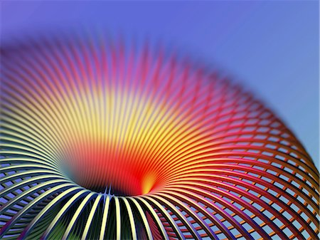 solid - Torus. Computer artwork of a torus. A torus is a mathematical surface with the shape of a doughnut. Stock Photo - Premium Royalty-Free, Code: 679-06713770
