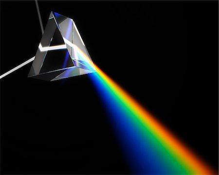 refraction - Prism dispersing white light, computer artwork. Stock Photo - Premium Royalty-Free, Code: 679-06713818