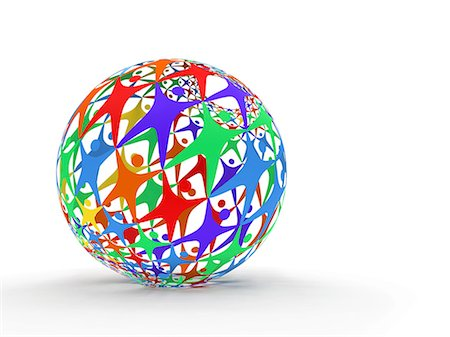 ebusiness - Computer artwork of a sphere made up of human figures, depticting connecting people worldwide. Stock Photo - Premium Royalty-Free, Code: 679-06713844