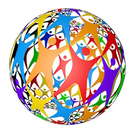 ebusiness - Computer artwork of a sphere made up of human figures, depticting connecting people worldwide. Stock Photo - Premium Royalty-Free, Code: 679-06713859