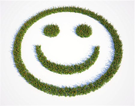 symbol - Grass smiley face, computer artwork. Stock Photo - Premium Royalty-Free, Code: 679-06755754