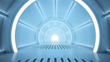 Futuristic corridor, computer artwork. Stock Photo - Premium Royalty-Free, Code: 679-06755774