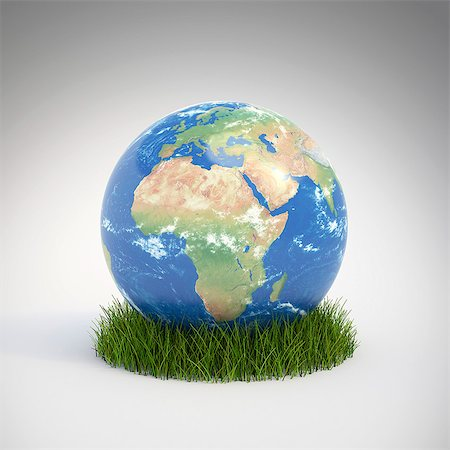 Green planet, conceptual computer artwork. Stock Photo - Premium Royalty-Free, Code: 679-06755776