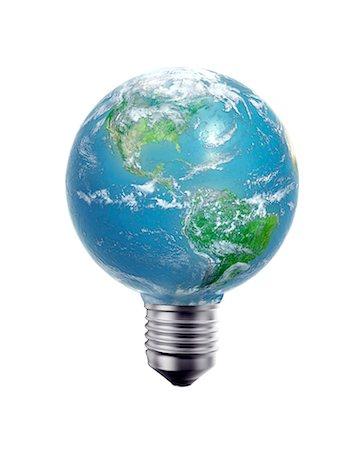 Green energy, conceptual computer artwork. Stock Photo - Premium Royalty-Free, Code: 679-06755809