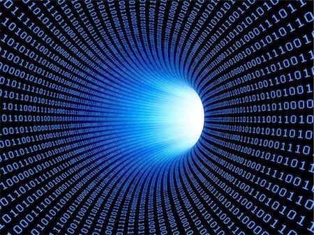 streaming - Data stream, conceptual computer artwork. Stock Photo - Premium Royalty-Free, Code: 679-06755801