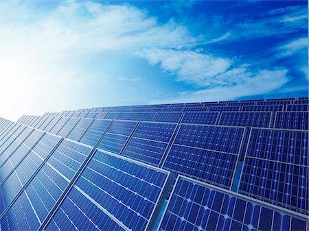 solar power - Solar energy, computer artwork. Stock Photo - Premium Royalty-Free, Code: 679-06755819