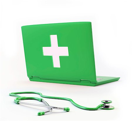 Online diagnosis, conceptual computer artwork. Stock Photo - Premium Royalty-Free, Code: 679-06755868