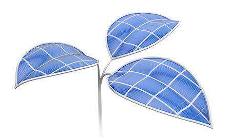 solar power - Green energy, conceptual computer artwork. Stock Photo - Premium Royalty-Free, Code: 679-06755890