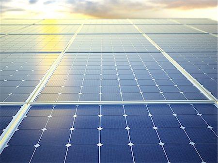 solar power - Solar energy, computer artwork. Stock Photo - Premium Royalty-Free, Code: 679-06755891