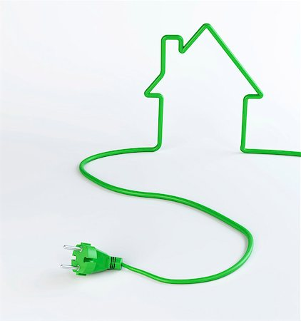 Green energy, conceptual computer artwork. Stock Photo - Premium Royalty-Free, Code: 679-06755965